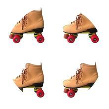 18双fa四轮溜冰鞋ry样轮滑鞋旱冰鞋初学者闪光耐磨滑冰鞋溜0