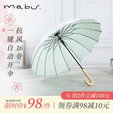 日本进fa品牌Mabry伞半自动晴遮阳伞太阳伞男女商务伞