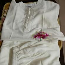 运动服fa装中袖长袖th极服亚麻夏天太极服女中老年中国风夏装