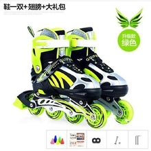 可调节fa滑包。男士ng蓝色速滑代步46码女童溜冰鞋初学者儿。