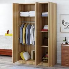 衣柜简fa现代经济型ng木板式租房宿舍简易单的双的家用(小)柜子