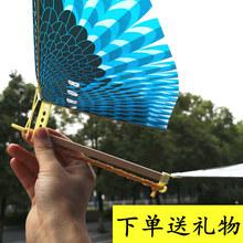 橡皮筋fa力大摊玩具hu机扑翼鸟号会飞的鸟宝宝户外地