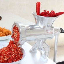 墨海1fa号2系列家mo手动铝合金绞肉机 多功能绞辣椒灌香肠打肉