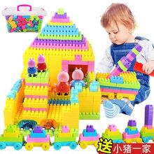 宝宝积fa玩具大颗粒ta木拼装拼插宝宝(小)孩早教幼儿园益智玩具