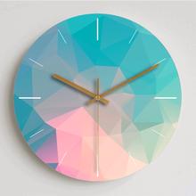现代简fa梦幻钟表客bw创意北欧静音个性卧室装饰大号石英时钟
