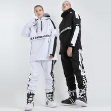 新式滑fa服男套装单tu防水保暖滑雪衣(小)脚滑雪裤女潮