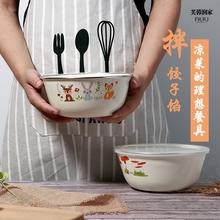 加厚搪fa碗带盖怀旧tu老式熬药汤盆菜碗家用电磁炉燃气灶通用
