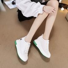 网红(小)fa鞋女内增高tu息波鞋秋季韩款女鞋运动女式休闲旅游鞋