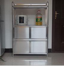致力简fa不锈钢防水tu台防晒铝合金烤箱餐边柜微波炉灶台柜子