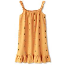 日系ifas睡裙子女ko睡衣女性感可爱无袖纯棉纱布睡裙夏季薄式