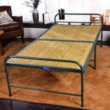 竹隐形fa单的折叠简hi型多功能成的家用凉床竹板竹子午休