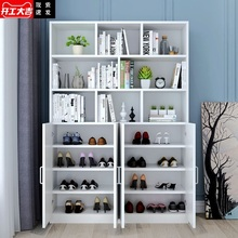 鞋柜书fa一体多功能kp组合入户家用轻奢阳台靠墙防晒柜