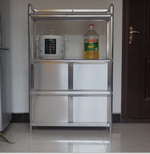 致力简fb不锈钢防水ut台防晒铝合金烤箱餐边柜微波炉灶台柜子