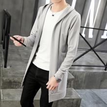 春秋青fb中长式风衣bc修身男士薄式夏季外套大衣潮流开衫上衣