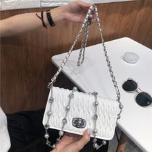 镶钻(小)方包 2020新式包包女潮褶fb14包斜挎bc钻水晶链条包