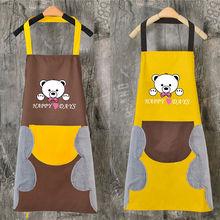 厨房防fb防油防污单rx套个性大口袋厨衣复古防烫新式清洁