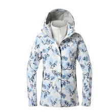 探路者三合一冲锋衣fd6女两件套hq外防风E外套TAWH91202/92203
