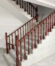 中款别墅实木楼梯fe5栏整体楼za梯扶手窗台栏杆