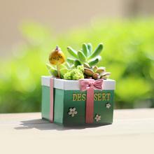 Zakfea创意可爱ai肉植物树脂个性多肉(小)花器盆栽包邮