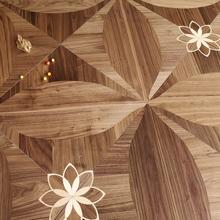 柚木方fe拼花多层实en地板黑胡桃原木色背景墙15mm地热暖专用