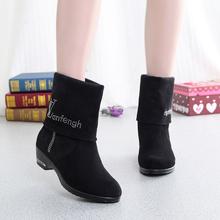 冬季新fe老北京布鞋ab棉靴时尚休闲子大码女棉鞋41码42码
