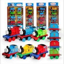 潮合金fe模托马斯(小)le具套装磁性回力宝宝卡通玩具车可连接火