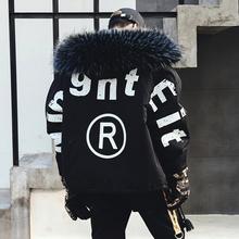 冬季潮男新式保暖外套加厚ff9服男生棉ha衣国潮嘻哈时尚男装