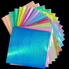 镭射纸fg纸彩色珠光jm闪光纸宝宝手工纸 千纸鹤纸15X15