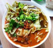 天津特产锅巴菜(小)吃网红抖fh9早点绿豆aw真空包装带卤450克