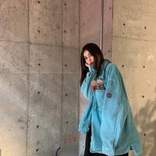 CAVfhMPT Cjy复古做旧灯芯绒衬衫日系潮牌街头男女休闲宽松夹克