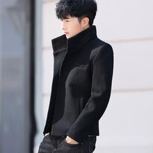 春秋季fh套男韩款立jy呢子大衣潮青年发型师夹克非主流冬男装