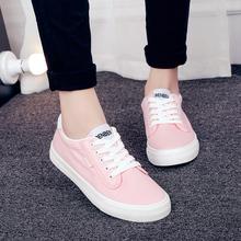 的本帆fi鞋粉色(小)粉tv(小)白鞋黑色低帮平底女鞋韩款学生球鞋