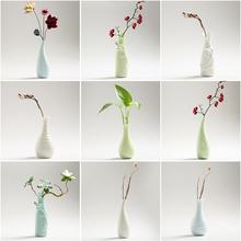 干花水fi净瓶(小)花瓶kl你清新花插客厅ins摆件玻璃透明欧式器