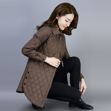 棉衣女fi码短外套2an秋冬新式百搭优雅夹棉加厚衬衫保暖长袖上衣