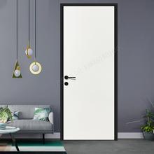 房门武fi套装卧室内or拉门烤漆卧欧式包安装烤漆门实木复合门