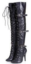 性感细fi弹力靴骑士or靴子韩款超高跟长靴过膝细跟秋冬季女鞋