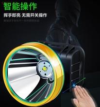 超亮头fi强光疝气户re头戴式感应照明灯led头灯可充电手电筒