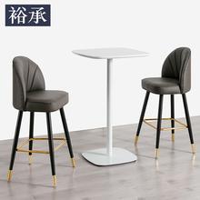 轻奢现fj简约酒吧椅df凳吧台凳休闲创意时尚高脚椅家用
