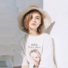 帽子女fj阳帽春夏季xc系太阳防晒帽防紫外线双面戴大檐渔夫帽