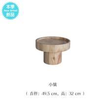 。北欧fk木圆形茶几hq发边几设计师创意根雕树墩现代简约原木