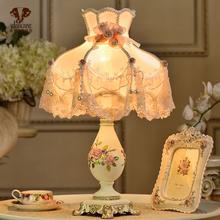 wanflang欧式st室床头灯个性创意温馨暖光可调光 结婚