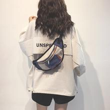 上新(小)fl包女202to潮韩款洋气单肩包时尚百搭斜挎帆布胸包腰包