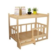 实用通fl专用床头柜ts层猫笼木床狗窝狗床家具金毛宠物窝木质