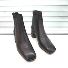 足间蝶fl20-92ur跟气质女靴欧货羊皮后拉链欧美时装靴2020冬