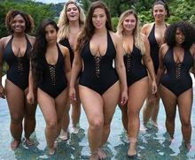 新式连fl运动泳衣女sjmm200斤性感遮肚沙滩度假泳装