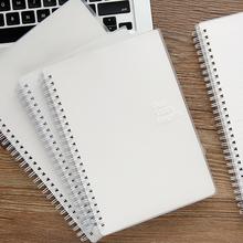 初品/fl础式侧翻上xn本 简约商务横线空白英语点阵方格网格子笔记本文具记事本子