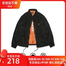S-SfmDUCE tw0 食钓秋季新品设计师教练夹克外套男女同式休闲加绒