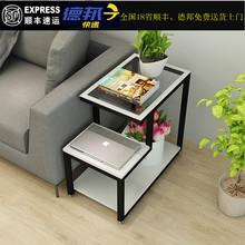 现代简fo沙发边几边mu角桌客厅迷你角柜钢化玻璃角几卧室