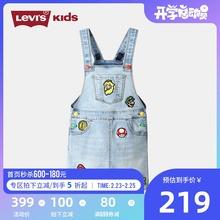 LEVfo'S李维斯oa带裙超级马里奥兄弟联名式女童裙子SUPERMARIO
