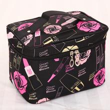 大号旅fo大容量少女sa包社会女化妆箱便携韩国简约收纳包收纳